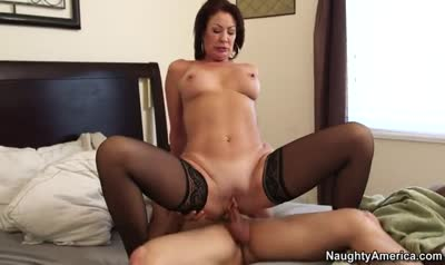 Sexy woman woke son Blowjob