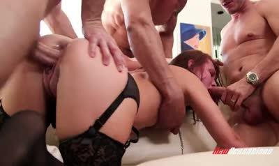 Appetizing babe really loves hard BDSM sex